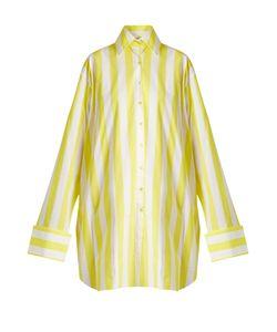Marques Almeida | Raw-Hem Striped Cotton-Poplin Shirtdress
