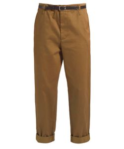 Golden Goose | Cotton-Twill Cropped Chino Trousers