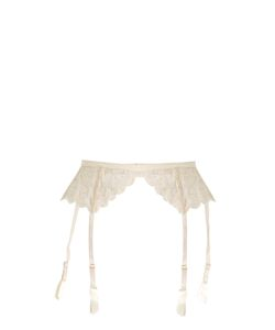 COCO DE MER | Pandion Embroidered-Lace Suspender Belt
