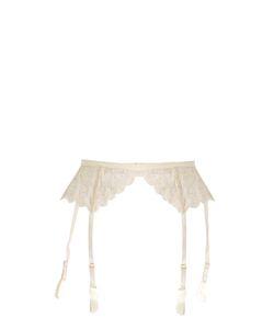 COCO DE MER | Pandion Embroidered-Lace Suspender Belt