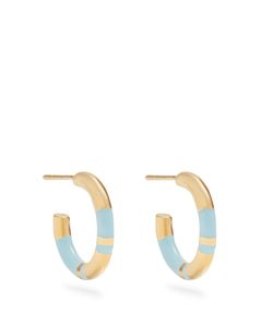 Aurelie Bidermann | Positano Plated Hoop Earrings