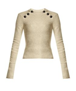 Isabel Marant Étoile | Koyle Button-Shoulder Cotton-Blend Knit Sweater