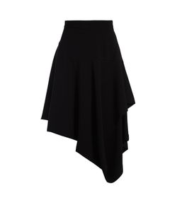 J.W. Anderson | Asymmetric-Hem Draped Cotton-Poplin Skirt