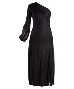 Gabriela Hearst | Ruth Pleated One-Shoulder Wool Dress