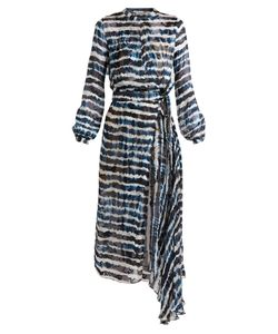 Preen By Thornton Bregazzi | Keene Tie-Dye Print Silk-Blend Jacquard Dress