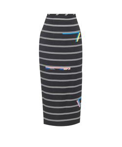 Preen By Thornton Bregazzi | Eunice Stripe-Print Pencil Skirt