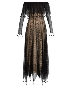 Alexander McQueen | Off-The-Shoulder Pompom-Embellished Lace Dress