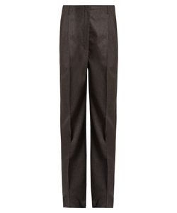 The Row | Firth Pleat-Front Straight-Leg Trousers