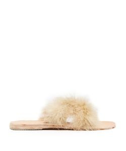 BROTHER VELLIES | Lamu Feather Crossover Slides