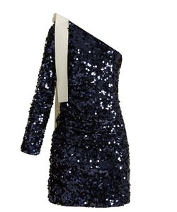 MSGM | One-Shoulder Sequin-Embellished Dress
