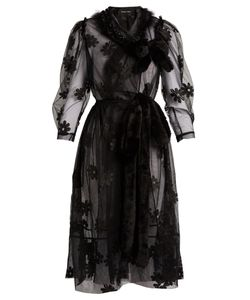 Simone Rocha | -Embroidered Tulle Wrap Dress