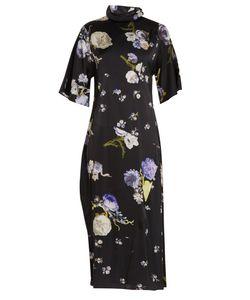 Acne   Dilona Print Satin Dress
