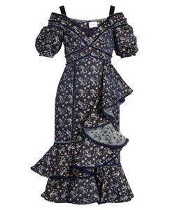 Erdem | Kaitlyn Jacquard Open-Shoulder Dress