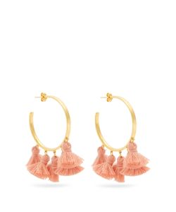 MARTE FRISNES | Raquel Plated Tassel Hoop Earrings