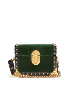 Prada | Treasure Trunk Mini Velvet Box Bag