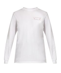 MARTINE ROSE | Long-Sleeved Cotton-Jersey T-Shirt
