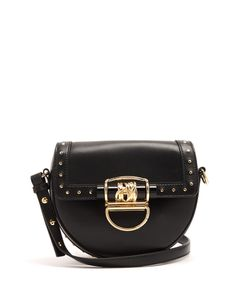 Balmain | 44-18 Leather Cross-Body Bag