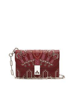 Valentino | Love Blade Stud-Embellished Shoulder Bag