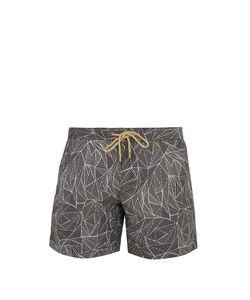 THORSUN | Titan-Fit Weave-Print Swim Shorts