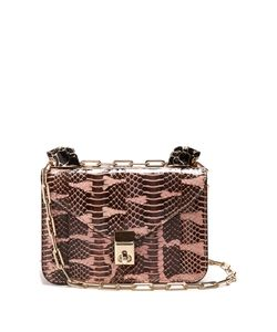 Valentino | Panther-Embellished Mini Snakeskin Shoulder Bag