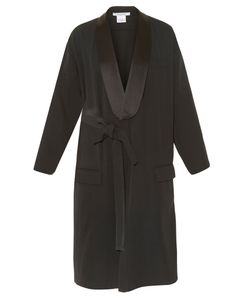 Givenchy   Satin-Lapel Cady Coat
