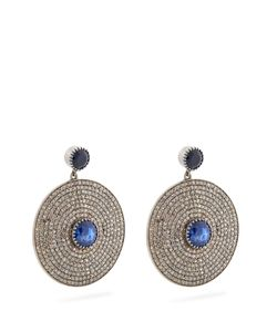 JADE JAGGER   Diamond Sapphire Earrings
