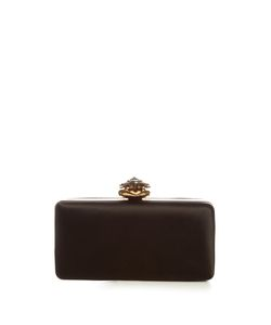 Alexander McQueen | Heart-Clasp Satin Box Clutch