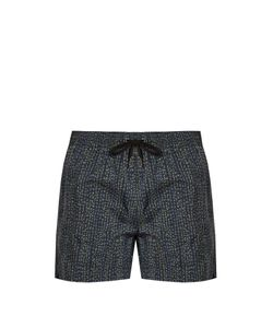 DANWARD | Tri-Colour Print Swim Shorts