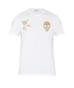 Alexander McQueen | Skull And Rose-Print Cotton T-Shirt