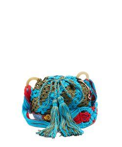 Peter Pilotto   Dinosaur-Appliqué Crochet-Cotton Shoulder Bag