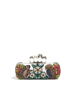 Alexander McQueen | Medieval Animal-Embroidered Knuckle Clutch