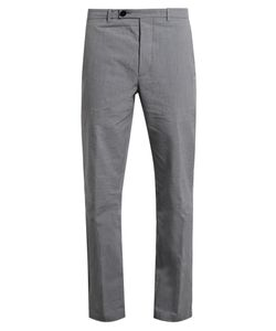 HELBERS | Pinstriped Washed-Cotton Chino Trousers