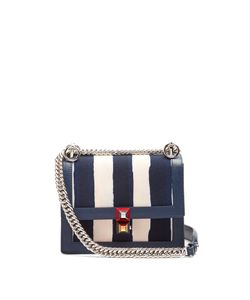 Fendi | Kan I Mini Canvas And Leather Cross-Body Bag