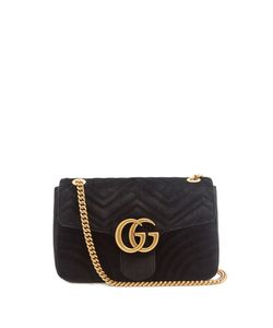 Gucci | Gg Marmont Medium Quilted-Velvet Cross-Body Bag