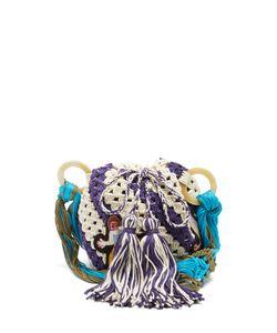 Peter Pilotto | Pineapple-Appliqué Crochet-Cotton Shoulder Bag