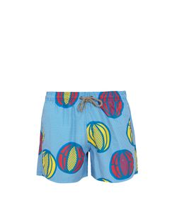 ÒKUN | Melon-Print Swim Shorts