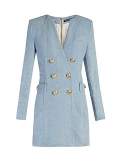 Balmain | Double-Breasted Denim Dress