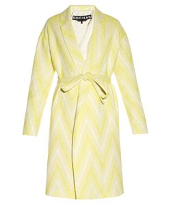 Rochas | Chevron-Woven Tie-Waist Coat
