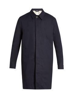 Ami   Lightweight Point-Collar Cotton Coat