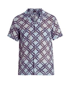 Giorgio Armani | Geometric-Print Short-Sleeved Shirt
