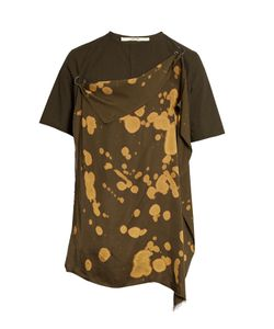 Damir Doma | Tal Printed-Drape Cotton-Blend T-Shirt