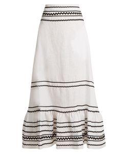 Lisa Marie Fernandez | Fiesta Ric-Rac Trimmed Linen Maxi Skirt