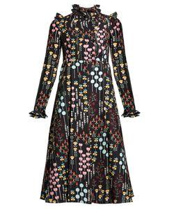Valentino | -Print Ruffled-Neck Dress