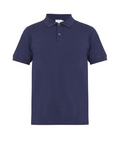 Sunspel | Point-Collar Cotton-Piqué Polo Shirt