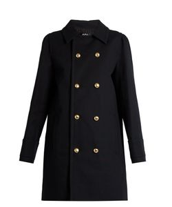 A.P.C. | Double-Breasted Cotton Pea Coat