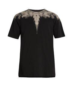 Marcelo Burlon   Yago Long-Line Cotton-Jersey T-Shirt