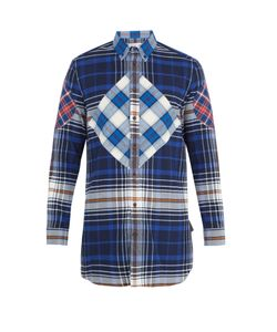 Givenchy | Patchwork Checked Cotton Shirt