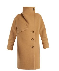 Acne | Ciara Funnel-Neck Wool-Blend Coat
