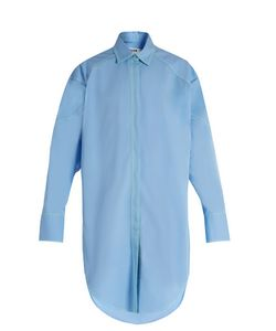 MSGM | Contrast-Stitch Cotton-Gabardine Shirtdress