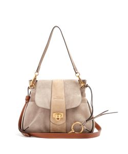 Chloe | Lexa Small Suede Shoulder Bag